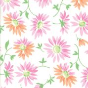 Moda - Good Day  - 6787 -  Modern Floral, Lazy Daisies on White - 22371 11 - Cotton Fabric